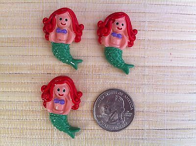 ON SALE! Disney Mermaid Inspired Flat Back Resin - Cabochon