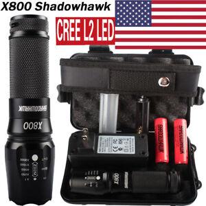 20000LM-XML-XM-L-L2-LED-Military-Tactical-Flashlight-2x18650-Battery-Charger-HOT