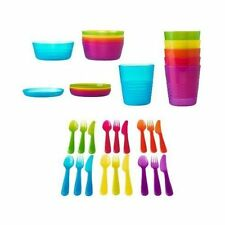 Dinnerware Set 36 Piece Kid Children Cutlery Plates Dishes Bowls Cup Kitchen FUN