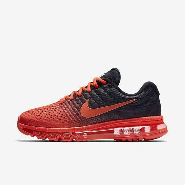 Nike Air Max 2017 Mens Running shoes Crimson Black 849559-600 NEW Multiple Sizes