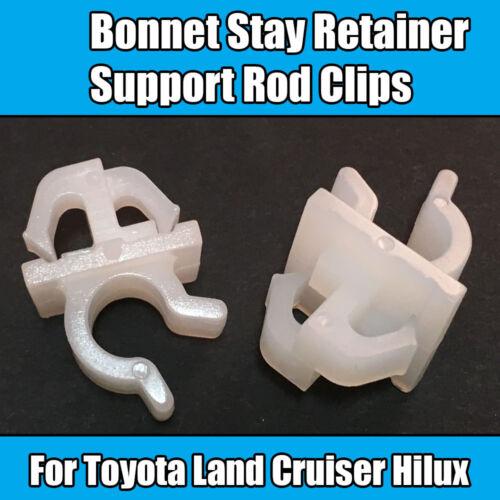 2x Clips Para Toyota Capó permanecer Retenedor de varilla de Soporte Clips LandCruiser Hilux