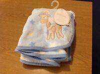 New Blue Fleece Pram Blanket
