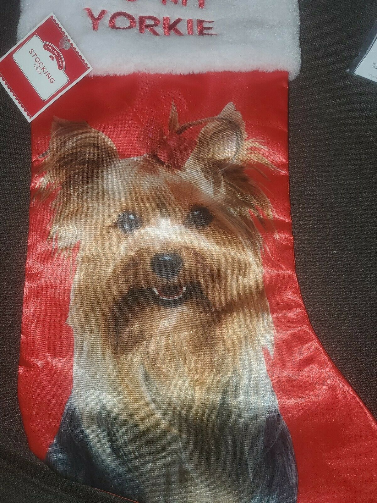 Yorkshire Terrier Christmas Stocking Yorkshire Terrier Christmas Gift Yorkie Christmas Stocking