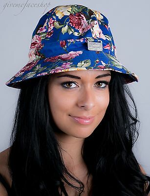 Ladies, men, bucket hats, sun derby holiday, hip hop urban blue floral supreme