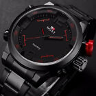 Waterproof Stainless Steel Luxury Date Analog Dress Men's Sport Quartz Watch Hot