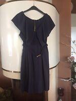 Super Schönes Kleid 👗H&M 👗Marine Blau/ Schöne Details 👗Gr. 46 - Eher 42/44