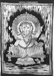Wonderful Tapestry Indian Lord Ganesh Design Small Poster Wall Hanging Indian