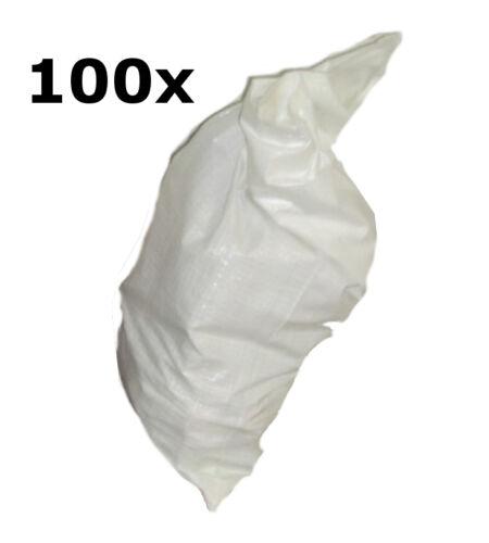 100 x PP Säcke mit Inliner Folie in 55 x 95 cm Gewebesack Weiss Säcke Sack