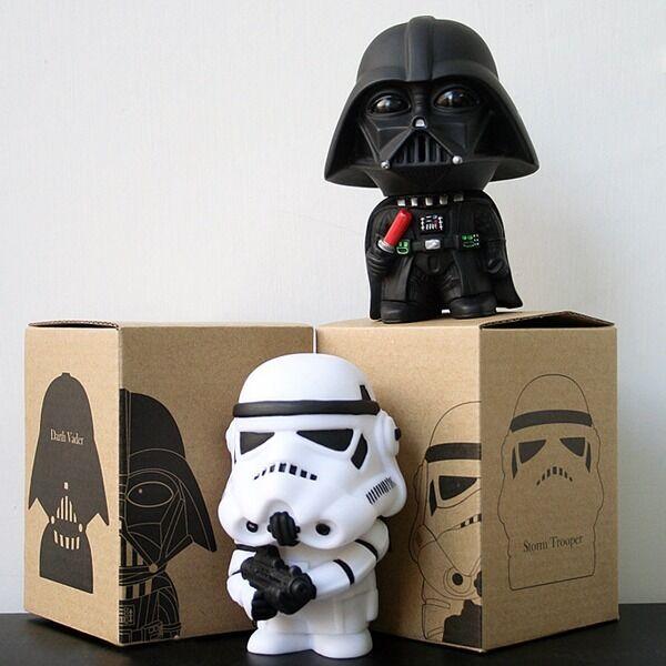 "2pcs Set Star Wars Darth Vader & Stormtrooper 10cm / 4"" PVC Figure New In Box"