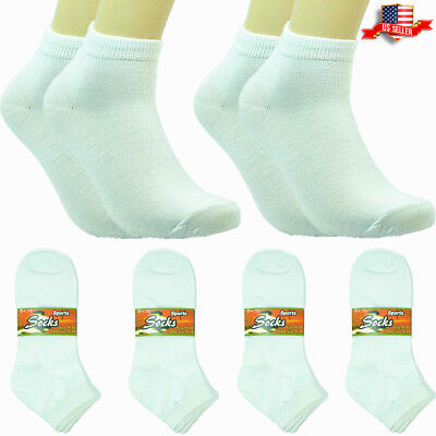 Details about  /6-12 Pairs Fashion Cotton Women Girls Ankle School Casual Socks Size 9-11 solid