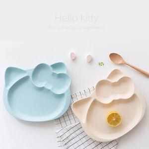 Hello Kitty Children S Feeding Divided Plates Ceramic