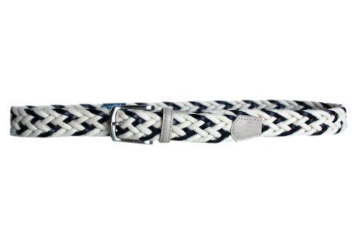 Cintura Uomo COTONE E PELLE RENATO BALESTRA linea Intrecciata 31.35 bianco blu