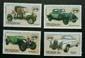 [SJ] Venda Vintage Cars FIVA Rally 1986 Classic Vehicle Old Times (stamp) MNH