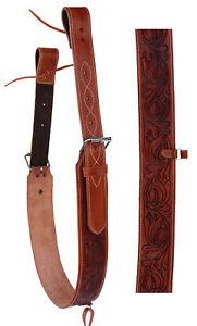 Horse Western Leather Tooled Back Rear Cinch Flank Girth w// Off Billets 9762A