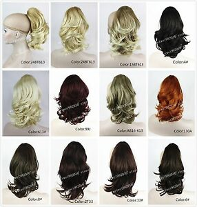 Fashion-Ponytail-Extensions-Hairpiece-wavy-Claw-clip-in-on-Hair-Piece-12-inches