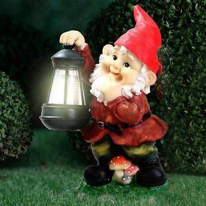 LED SOLAR Leuchte Garten Zwerg Laterne Licht Terrassen Lampe Außen Beleuchtung
