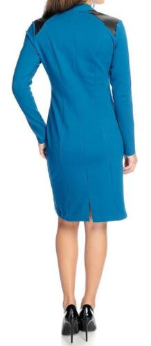 1X The Countess Collection Knit  Zipper Detailed V-Neck Dress NEW