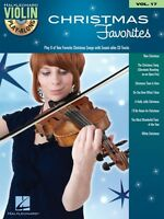 Christmas Favorites Sheet Music Violin Play-along Book And Cd 000842478