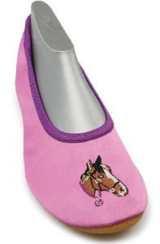 Nouveau Beck Ballet chaussures Gymnastique chaussures CHEVAL FILLE 24 26 32 34 chaussons
