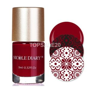 9ml-Nail-Stamping-Polish-Nail-Art-Stamp-Varnish-NICOLE-DIARY