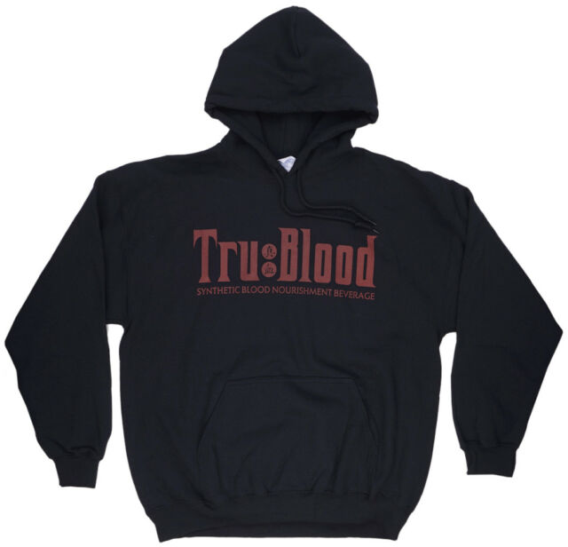 True Blood Synthetic Nourishment Sweatshirt Hoodie Black HBO Licesned