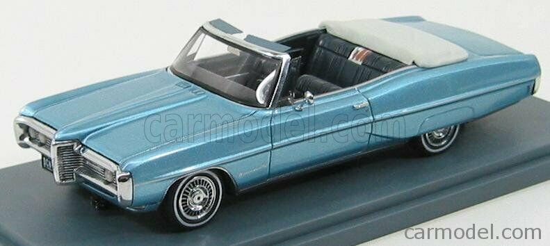 Wonderful NEO-modelcar PONTIAC BONNEVILLE CONGrünIBLE 1968 - Blaumetallic - 1 43