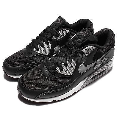 Nike Air Max 90 Essential Black Wolf Grey Mens Running Shoes Sneakers 537384-056