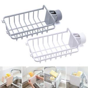 Kitchen Sink Faucet Sponge Soap Storage Organizer Cloth Drain Rack Holder Shelf,