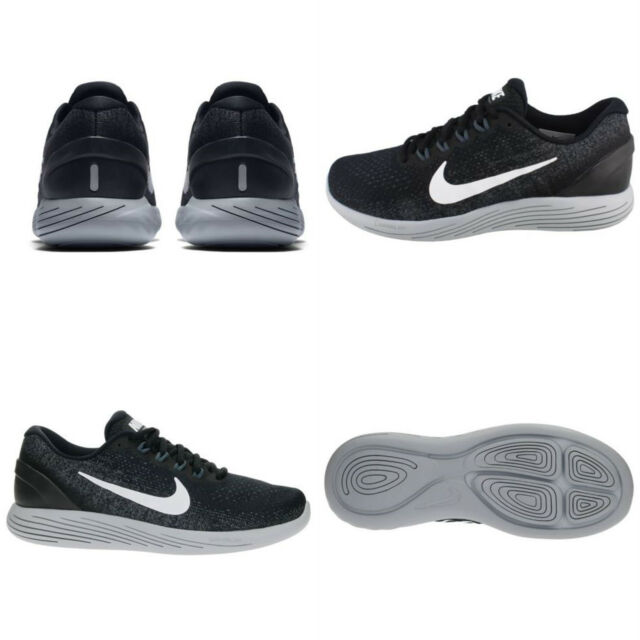 deb832a17029 Mens Nike Lunarglide 9 Shoes Size 14 Black White Grey 904715 001 for ...