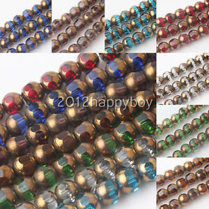 20-40pcs-Bronze-Plated-Faceted-Czech-Crystal-Loose-Spacer-Beads-8mm-Jewelry-DIY