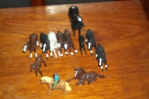 BRITAINS-HORSES-FOALS-1-WITH-A-RIDER-LOOSE-PLAYED-WITH