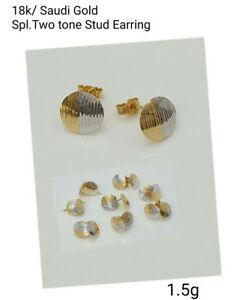 Gold-Authentic-18k-gold-two-tone-earrings