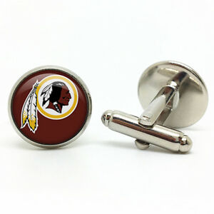 Mens Cufflinks Nfl Washington Redskins Football Logo Personalized