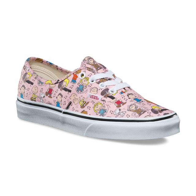 141f58943fadf VANS Authentic Peanuts Dance Party Pink Kids 12 Skate Shoes Sneaker