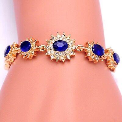 Armband Armreif Strass Gold Blau Damen Modeschmuck MUST HAVE Geschenk Edel NEU