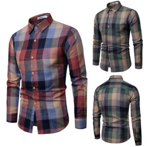 Business-Office-Work-Men-Slim-Fit-Long-Sleeve-Casual-Shirts-Tops-Blouse-T-shirt