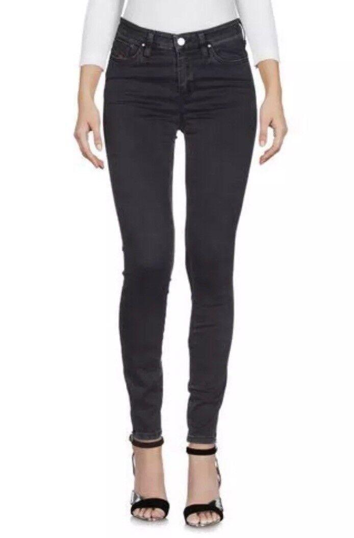 CL9  DIESEL damen schwarz Denim Denim Denim Jeans Cotton Polyester Elastane Größe W26 x L32 ddf7e0