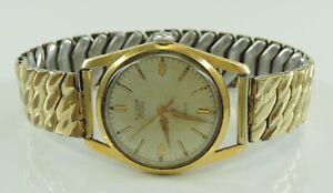 Vintage-Eldor-Geneve-17-Rubis-Handaufzug-Herren-Armbanduhr-vergoldet