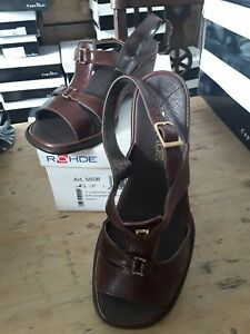 Rohde Leather Sandal White 4.5 37 rrp