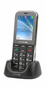 Seniorenhandy OLYMPIA Joy II mit grossen Tasten Hörgerätekompatibel schwarz