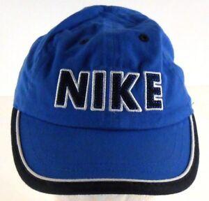 3494c852e95 Image is loading Nike-Infant-Size-Block-Lettering-Blue-Strapback-Adjustable-