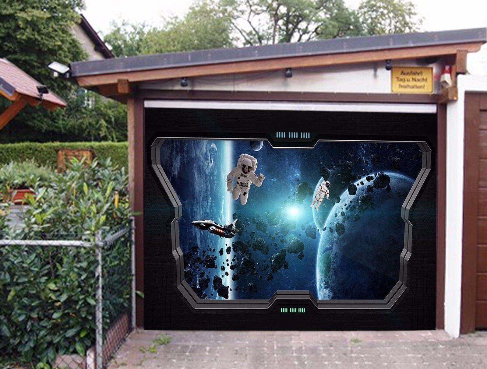 3D Astronaut 894 Garage Door Murals Wall Print Decal Wall AJ WALLPAPER UK Carly