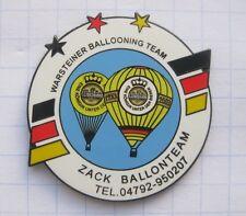 ZACK / WARSTEINER BALLOONING TEAM  ... Bier-Ballon-Pin (125K)