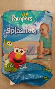 Pampers Splashers Disposable Swimpants  Size  3-4  16-34 lbs  Quantity 24.