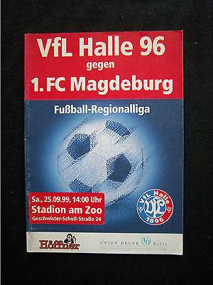GüNstiger Verkauf Orig.prg Regionalliga Nord Ost 1999/00 Vfl Halle 96 - 1.fc Magdeburg !! Tropf-Trocken