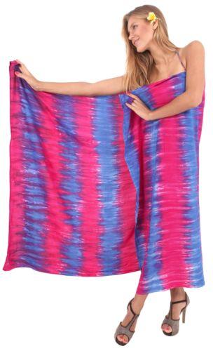 """LA LEELA Women/'s Sarong Swimsuit Tie Cover Up Wrap Beach Dress 78/""""x43/"""" Blue/_S998"""