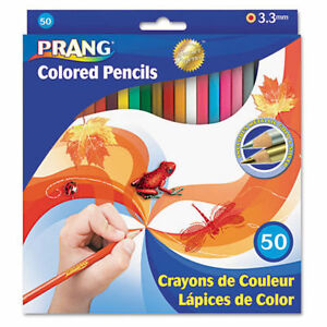 Prang-Colored-Pencils-Set-of-50-Woodcase-Art-Pencil-NEW