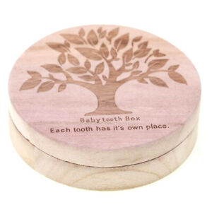 Baby Tooth Box Organizer Milk Teeth Wood Storage First Tooth Keepsake Baby BoxSP