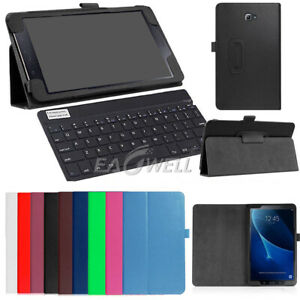 online retailer d1c28 8d2b8 For Samsung Galaxy Tab A A6 10.1 T580 T585 Wireless Keyboard/Leather ...