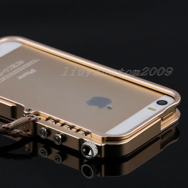"Cool Man's Metal Frame Bumper Trigger Case Cover For Apple iPhone 6 4.7""+Strap"